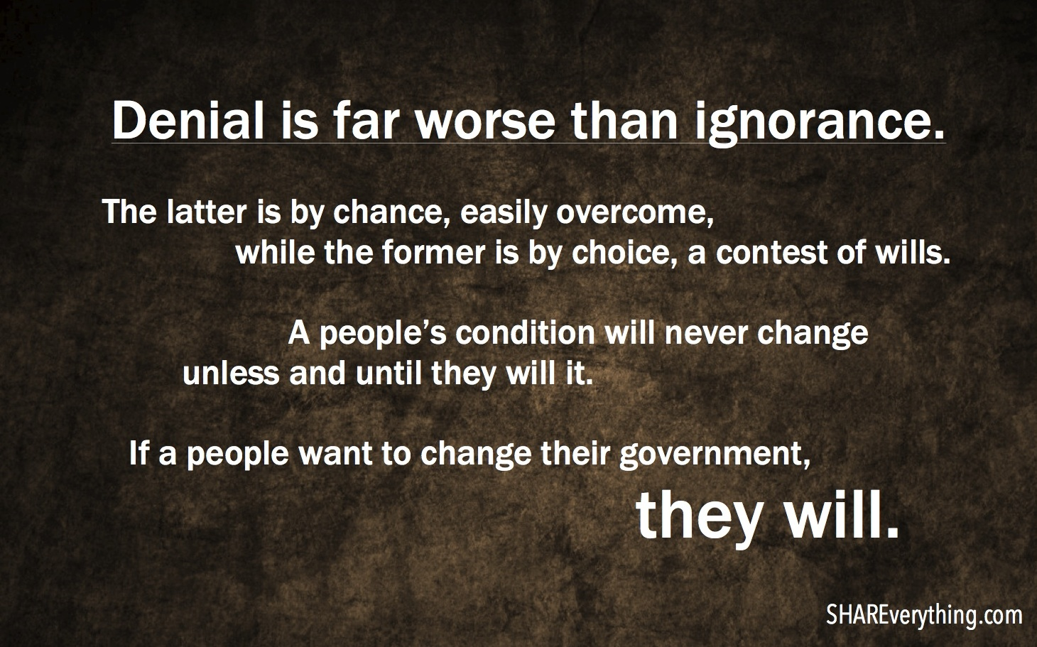 Denial V Ignorance SHAREverything